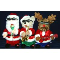 """Quality 14"""" Lovely Christmas Band Singing Plush Electric Educational Toys for Preschoolers wholesale"""