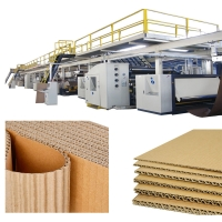 China Automatic Corrugated Paperboard Production Line 100m/min on sale