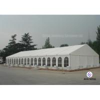 Quality 600 ~ 1000 Person Aluminum Frame Tent , White PVC Event Tent With Double Wing Glass Door wholesale