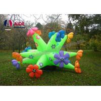 Quality CE Inflatable Lighting Decoration 12 Corner Advertisement Green Flowers wholesale