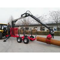 Quality New Design Low Cost CE WOOD TRAILER WITH CRANE forest equipment log trailers with grapple wholesale