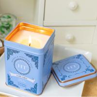 Quality Home Bar Decoration Scented Tin Candles With Metal Lids Hand Painted Glassware wholesale