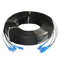 Cheap Single Mode FTTH Fiber Optic Drop Cable G.657 Indoor Outdoor 2 Core Custom for sale