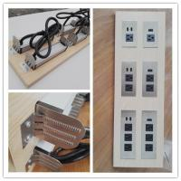 Quality Multifunctional Furniture Power Outlet , Universal AC Desktop Electrical Outlet With USB Port wholesale