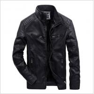 China oem wholesale uniform fleece waterproof high quality leather men's winter coat nice deisng model on sale