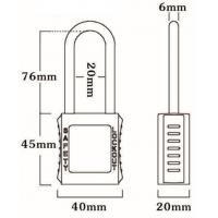 Quality 76mm Non-Conductive Insulation Nylon Shackle Safety Padlock 45mm*40mm*20mm wholesale