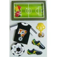 China Black Gray Layered Paper Shaker die cut Stickers Football Game Decorative on sale