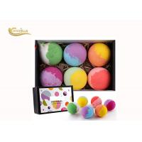 China Professional Bath Bomb Gift Sets 6 Pcs  Flavour Custom With Packaging Gift Boxes on sale