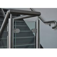 China Customized Design Glass Stair Railing , Aesthetics Stainless Steel Glass Railing on sale
