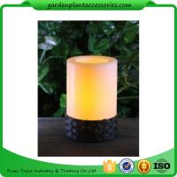 Quality White Plastic Candle Solar Garden Lights Battery Operated With Black Wick  shrinkwrap+belly band 17x17x12cm 3.33kgs/ctn wholesale