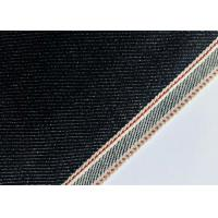 Quality Customize Design Stretch Denim Fabric For Skinny Selvedge Jeans 31mm Width wholesale