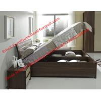 Quality Lift mechanism storage bed in classic wooden bedroom furniture wholesale
