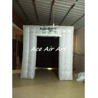 Quality cheap inflatable cube air tent led inflatable photo booth with black backdrop for wedding wholesale