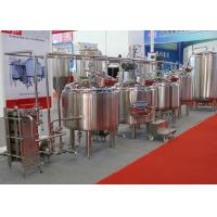 Quality Industrial Beer Brewing Equipment , Stainless Steel Beer Tanks Adjustable Feet wholesale