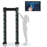 Quality Portable Walk Through Metal Detector Self Diagnostic With Big Touch Screen wholesale