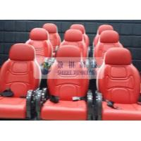 Quality Outside Mobile 6D Movie Theater 3 / 4 Seat Per Set Motion Chairs With Red Color wholesale