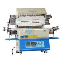 Laboratory 1200C split type two heating zones tube furnace with quartz tube heated by resistance wire