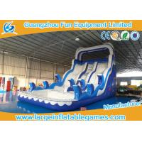 Quality Ocean Commercial Inflatable Slide / Inflatable Stair Slide With Two Slide Way wholesale