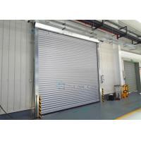 Quality Exterior Interior Insulated Roll up Industrial Security Doors Grey White Panel wholesale