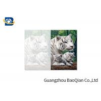 Quality Lovely Animals 3D Image Lenticular Card Printing Two Sides CMYK Offset Printing wholesale