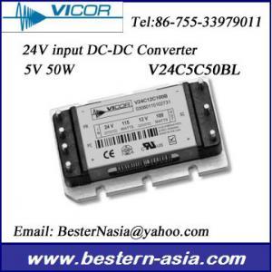 Quality Vicor Power Supply V24C5C50BL 24V to 5V 50W DC-DC Converter for process control wholesale