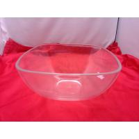 Quality Food-grade Square Clear Acrylic Bowl For Salad / Fruit 230 by 110mm wholesale