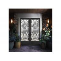 Quality good  Wrought Iron Entry Doors Thickness 30 Mm firm Type Iron Mosaic Glass wholesale