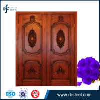 Quality Wooden exterior double swing opening doors for villa wholesale