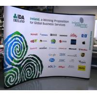 China Curved pop up exhibition displays with printing on sale
