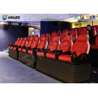 Quality Fiber Glass Ride Experience 5D Movie Theater Simulator System With Red Chair wholesale