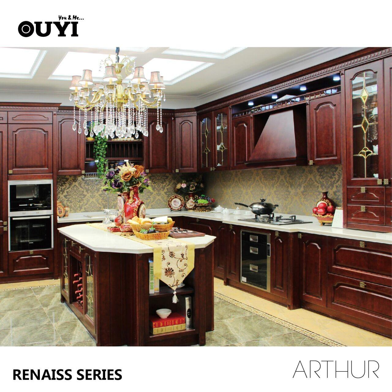 Quality American Solid Wood Kitchen Cabinet Classic Solid Wood Kitchen Cabinet wholesale