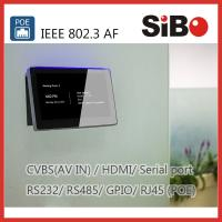 Quality Meeting Room Scheduling 7 Inch Android OS Touch Panel With LED Light wholesale