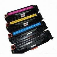Buy cheap CE410X, CE411A, CE412A, C413A Color Toner Cartridges Compatible for HP Printer from wholesalers