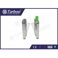 Quality Access Control Flap Barrier Gate / Electronic Turnstile Gates Infrared Sensors wholesale