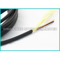 Quality 5.0MM Black 24 Strand Single Mode Fiber Optic Cable Non Armoured Loose Tube Cable wholesale