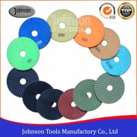 Cheap Flexible 4 Inch Diamond Polishing Pads 100mm For Engineered Stone Surfaces for sale