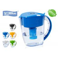 Cheap Antioxidant High PH Alkaline Water Filter Jug , Plastic Wellblue Water Pitcher for sale