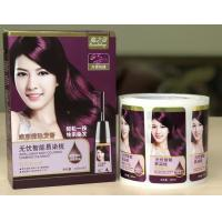 China Packaging Adhesive Metallic Product Labels For Shampoo Bottle Label Printing on sale