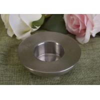 Quality 25Ml Mini Simple Silver Tealight Metal Candle Holders Thick Wall Eco Friendly wholesale