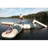 Quality 0.9mm PVC Inflatable Water Trampoline Combo With Water Slide wholesale