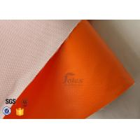 Cheap Thermal Insulation Materials 0.45mm One Side Orange Silicone Coated Fiberglass Fabric for sale