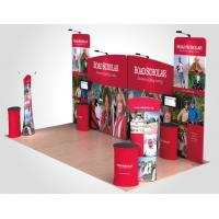 China Tension Fabric Displays Aluminum Curved Top Pop Up Banner Stands on sale