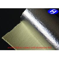 China Acid / Alkali Resistance Aramid Fiber Fabric Aluminum Foil Coated Fiberglass on sale
