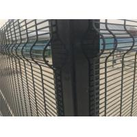 China 358 security wire fence panels powder coated orange & black mesh 76.20mm x 12.70mm with 4 v fold on sale