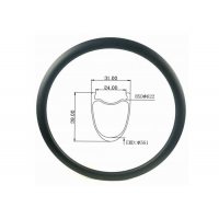 Buy cheap All Road 31MM Width 39MM Height Cyclocross Gravel Carbon Bicycle Rim from wholesalers