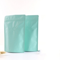 Buy cheap Gravure Printing Matte Finish Aluminum Foil Zipper Coffee Bags With Valve from wholesalers