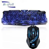 Quality 2016 Top Seller USB wired backlit best cheap pc keyboard and mouse combo wholesale