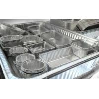 China Alloy Household Disposable Thick Aluminium Foil Tray Container Food on sale