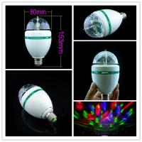 Quality Led E27 3W Stage Lights Crystal Magic Ball Rotating RGB LED Light Bar For Party Disco DJ wholesale