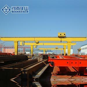 China Pendant Control Single Girder Gantry Crane 20m / Min Traveling Speed Box Type on sale